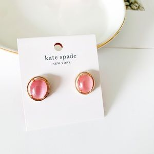 Kate Spade Cat Eye Stud Earrings Pink